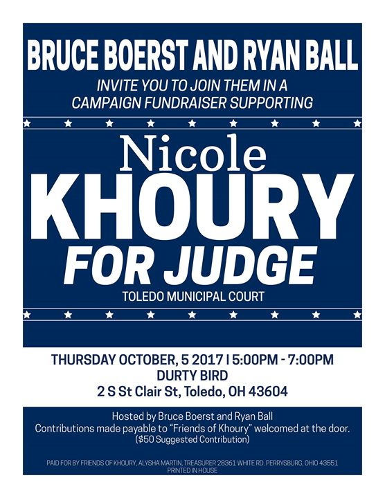 Friends of Khoury Campaign Fundraiser at Ye Olde Durty Bird – BCAN